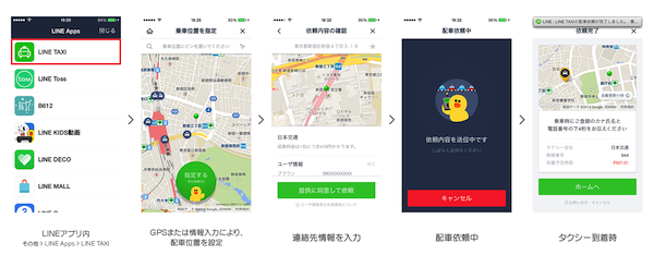 LINE TAXI LINE Pay 使い方