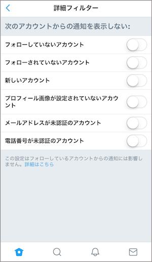 twitter 通知設定 変更 方法