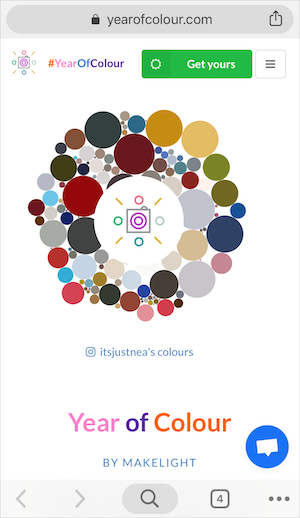 Instagram Year Of Colour 使い方